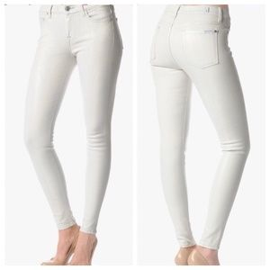 7 for all mankind White Snakeskin Print Jeans 25